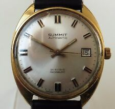 Vintage Gents Gold Plated Summit 21J Mechanical ETA 2452 Date Watch Serviced