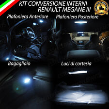 KIT LED INTERNI RENAULT MEGANE 3 CONVERSIONE COMPLETA + LUCI TARGA LED CANBUS