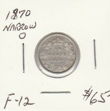 Canada 1870 10 Cents Narrow O