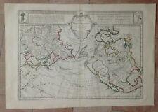 NORTHERN HEMISPHERE 1750 DELISLE / P. BUACHE UNUSUAL LARGE ANTIQUE MAP