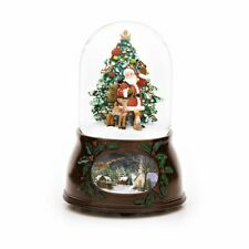 Santa & Christmas Tree Christmas Snow Globe (Musical)