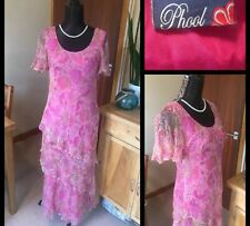 PHOOL : Women's True Vintage Floaty Chiffon Dress : UK 12