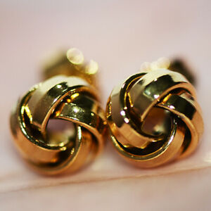Twisted Gold Stud Earrings for Womens Female Lovely Earings Jewelry Small Earrs