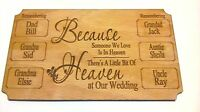 Memory Of Someone In Heaven Plaque Wedding Sign Up To 8 Names
