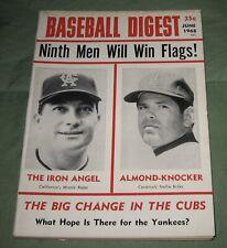 VINTAGE BASEBALL DIGEST June 1968 MINNIE ROJAS NELLIE BRILES Chicago Cubs