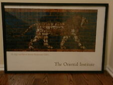 Large Framed Mesopotamian Poster from Oriental Institute of Chicago