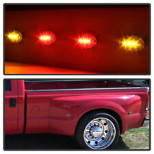1999-2010 Ford F350 F450 Super Duty Dually Fender LED Side Marker 2 Red+2 Amber