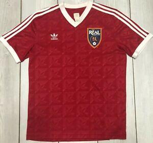 Adidas Trefoil Real Salt Lake RSL Short Sleeve Soccer Jersey Mens Large MLS Red