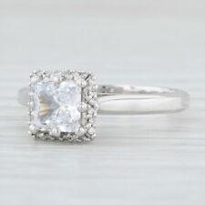 New Tacori Diamond Halo Engagement Ring Platinum Size 6.5 Semi Mount Pave 2502PR