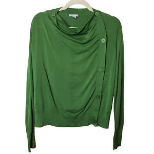 COS Womens Green Long Sleeve  Button Front Sweater Size Small