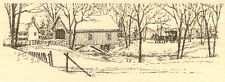 Snow Covered Bridge Wood Mounted Rubber Stamp Impression Obsession E1471 NEW