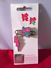 London 2012 PARALYMPICS PUNK SAFETY PIN Enamel Badge Limited Edition BRAND NEW