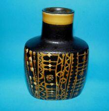 Royal Copenhagen pottery  vase ' Black and yellow ' 1st quality  (7667)