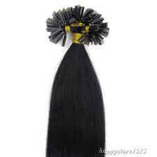 Remy Human Hair Extensions 100S Pre Bonded Nail Keratin U Tip Glue Hair 1g 0.5g