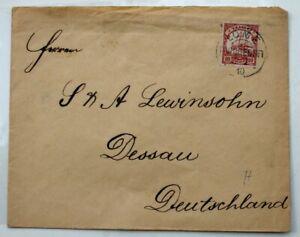 2872 German Colonies Togo Letter Ef 10 Penny 1910 Lome Togogebiet Africa