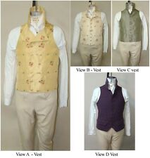 Men's Late Georgian 1795-1817 Vest sizes 34-56 Laughing Moon Sewing Pattern 125