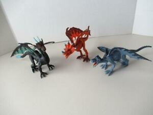 Mythical Fantasy Dragon Lot of 3 Action Figures B