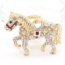 Key Ring Purse Bag horse Rhinestone CZ Keyring Keychain charm Pendant Gift
