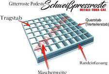Podest Gitterrost Podest 500x500, Tragstäbe 30x2 Schweißpressroste