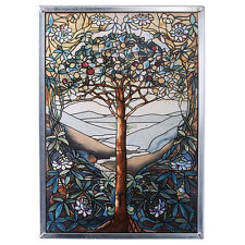 Tiffany Style Enchanting Tree of Life Stained Glass Window Art Suncatcher