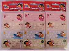 LOT DE 24 ETIQUETTES CAHIER DORA L'EXPLORATRICE ROSE BRILLANT
