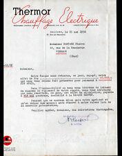 """ORLEANS (45) CHAUFFAGE ELECTRIQUE """"THERMOR / R. LOYER"""" en 1950"""