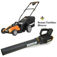 WORX WG959 2X20V Combo: Lawn Mower WG744 + FREE Turbine Leaf Blower WG547rf