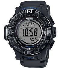 Casio Watch Pro Trek Tough Solar Black Mens Prw-3510y-1d