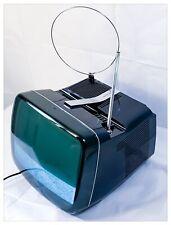 "BRIONVEGA Televisore TV Vintage ALGOL 3 B/N 12"" Anni '70 Blu Notte Funzionante"