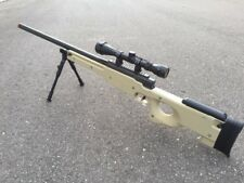 WELL Tan Color Tactical L96 AWP Airsoft Sniper Rifle W/ Scope + Bi-pod