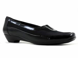 Easy Spirit Women's Emmie Loafers Patent Leather Black Size 6 M
