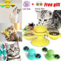 Cat Turning Windmill Turntable Tickle Toy Scratch Hair Brush Pet Training Tool