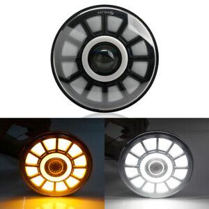 7in Round LED Headlight Hi-Lo Angel Eye Halo Lamp for Truck Jeep Wrangler