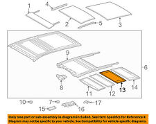 TOYOTA OEM 09-15 Venza Sunroof Sun Roof-Sunshade Shade Cover 633060T030A0