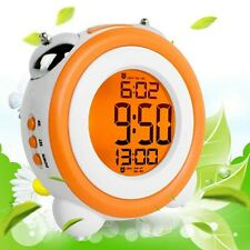 Stay-In-Bed Light Clock, Kids Alarm Clock,Double Bell Alarm Clock With Snooze