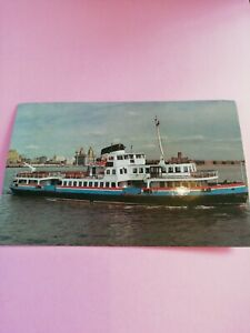 Postcard Mersey ferry M.V.OVERCHURCH Friends of the Ferries card LIMITED EDITION