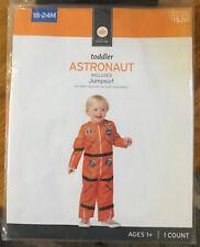 Toddler Astronaut Halloween Costume Jumpsuit 18-24 M Orange School Play New