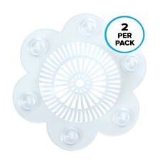 Stop-A-Clog Drain Protector (2 Per Pack): Clear Hair Catcher SlipX Solutions