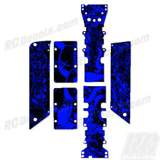 Traxxas E-Maxx - Chassis Plate + Skid Protector Decals - Graffiti BL - TRA3922A