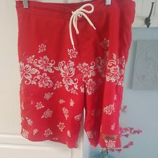 New listing Marlin Trading Co. Red Swim Trunks. Size L Great Used Shape