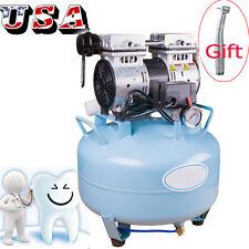 【USA】Portable Dental Medical Air Compressor Silent Noiseless Oil Free Oilless CE