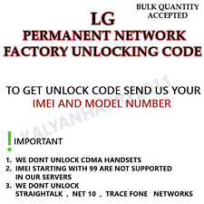 LG PERMANENT NETWORK UNLOCK CODE FOR LG T395 LOCKED WITH TELCEL(MEXICO)