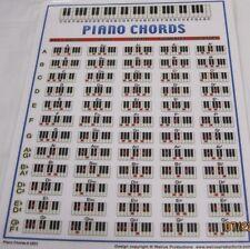 piano chord chord chart walrus production laminated 8 1/2 by 11 chart piano cord