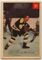 1954-55 Parkhurst Hockey #51 Bill Quackenbush HOF G-VG Condition (*2020-13)