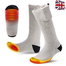 Electric Thermal Heated Socks Winter Heat Feet Foot Warmer USB 3.7V Battery UK!