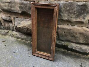 VINTAGE/ANTIQUE WALL HANGING SLIM DISPLAY CASE / CABINET - 22cm x 8cm x 48cm