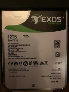 Segate Exos X12 12 TB,Internal,7200 RPM,3.5 inch (ST12000NM0007) Hard Drive