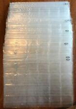 30 x Vintage Clear Plastic 35mm Photo Slide Storage Pockets Capacity 700+ Slides