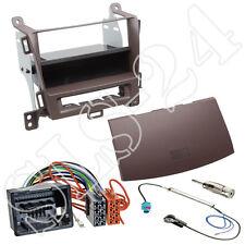 Opel Zafira Tourer Doppel-DIN+Fach braun+ISO Adapterkabel+ KFZ Antenne Einbauset