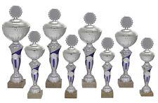 8er Serie Pokale 507 Silber/Blau Höhe=43,5-31,0 cm inkl.Gravur nur 79,95 EUR